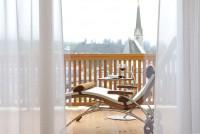 Balkon mit Blick auf Maria Alm