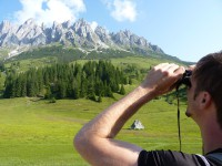 Blick auf die Mandlwände im Salzburger Land