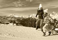 Spaß im Schnee im Pinzgau