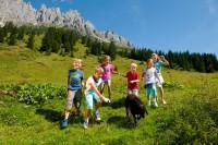 Kinder auf der Alm im Salzburger Land